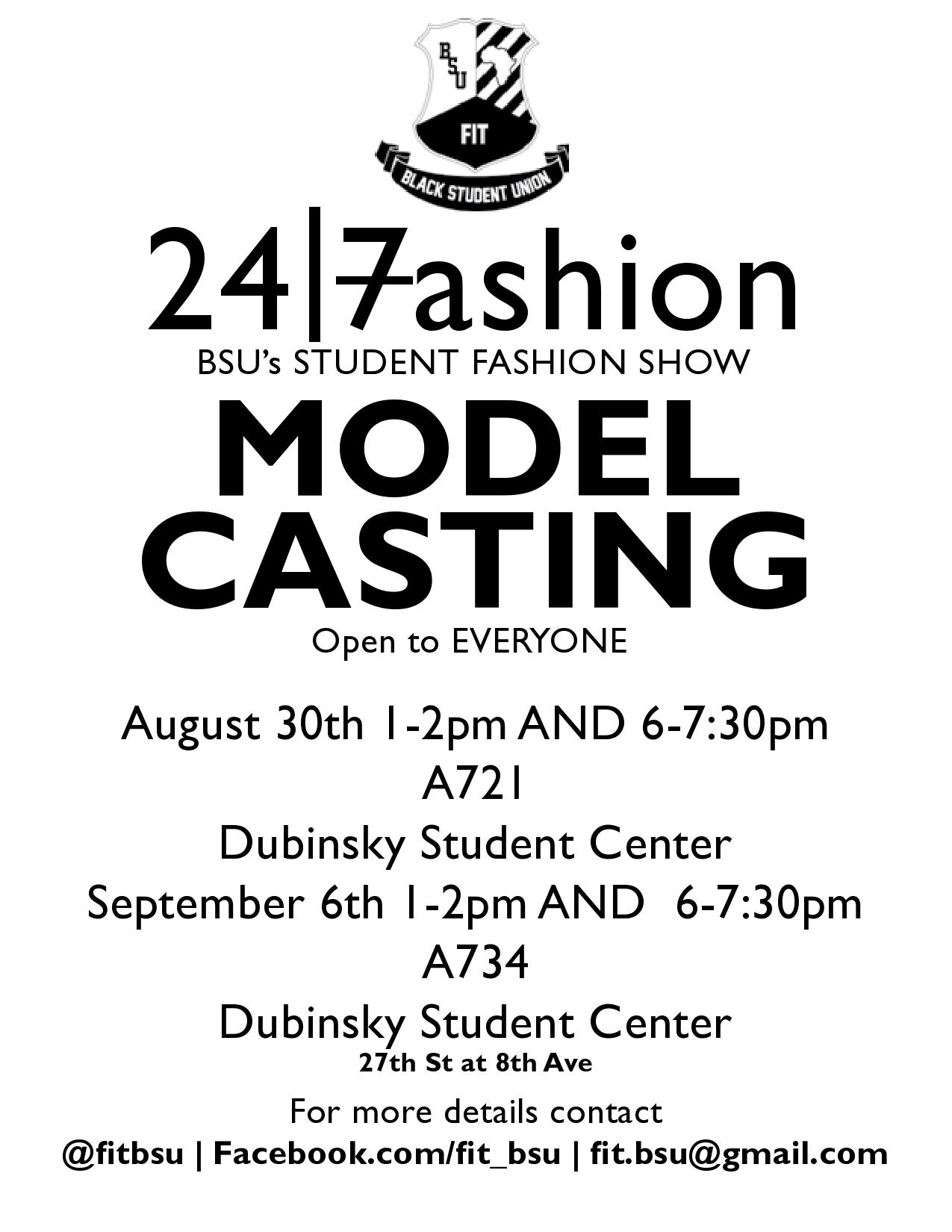 BSU Fashion Show Model Casting