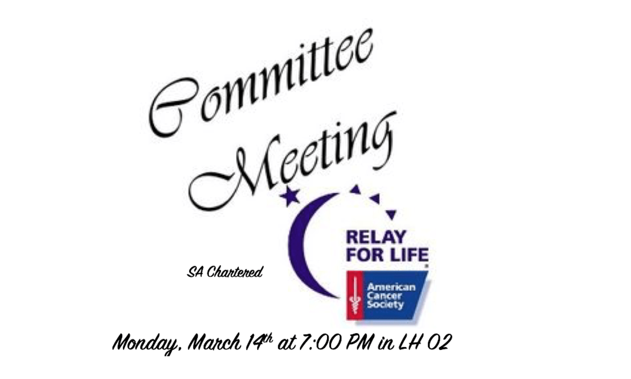 Colleges Against Cancer Relay For Life committee meeting