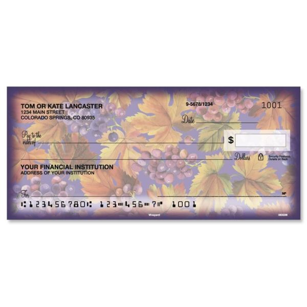 Colorful Personal Checks Designs