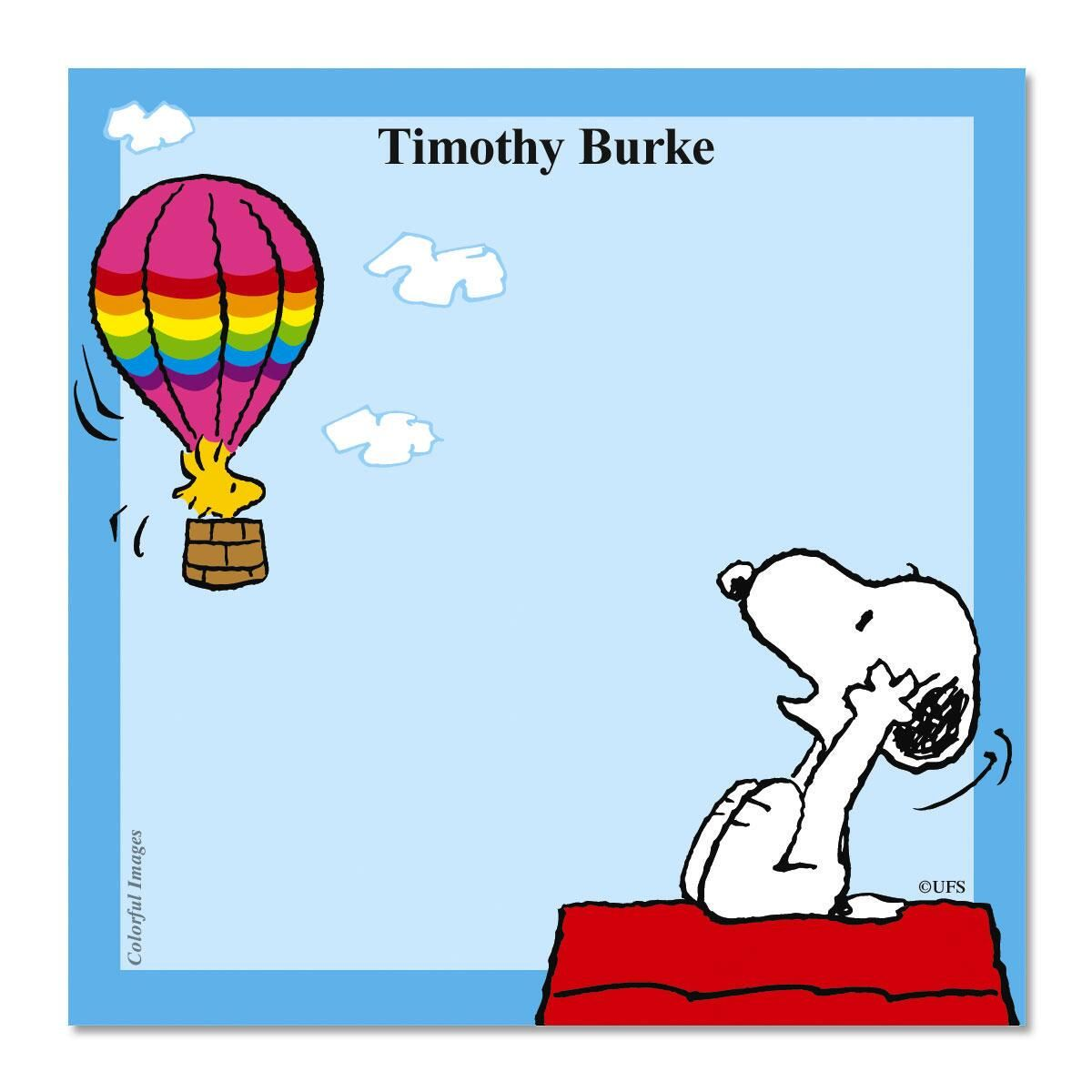 SNOOPY WOODSTOCK Note Cube Colorful Images