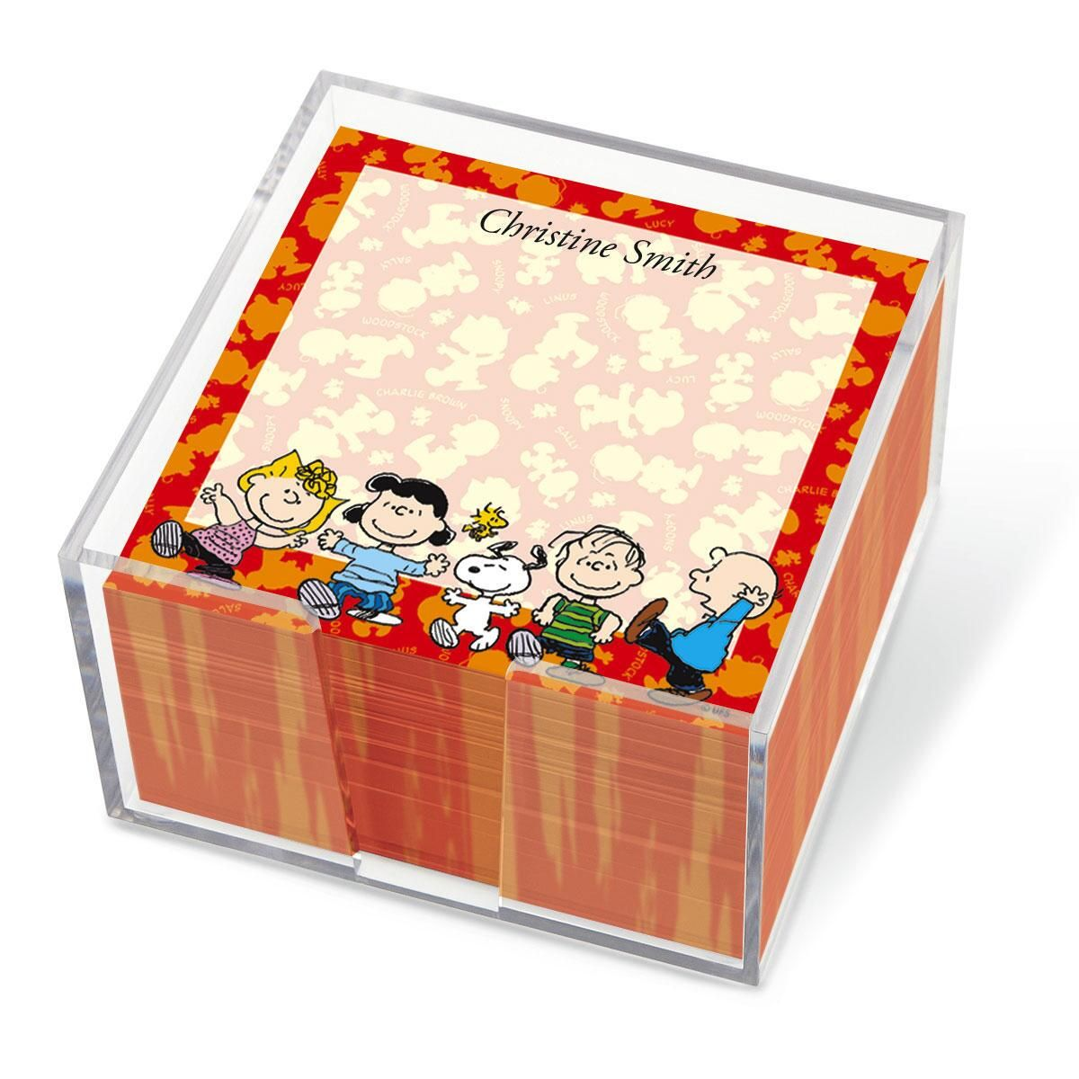 PEANUTS Polka Note Cube Colorful Images