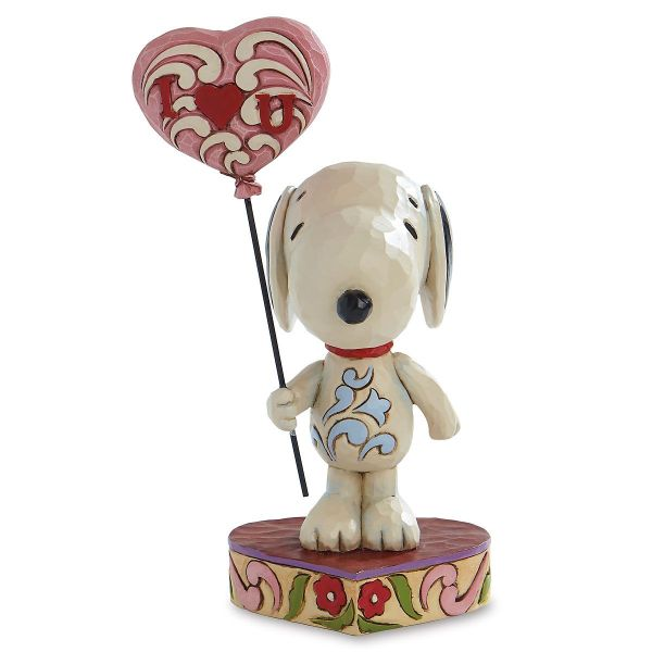 Snoopy With Heart Figurine Jim Shore Colorful