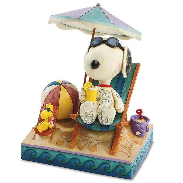 Snoopy Beach Jim Shore Colorful