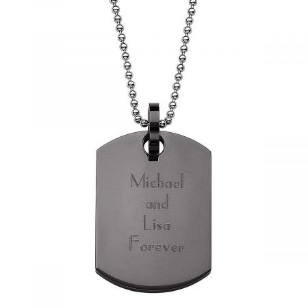 personalized black dog tag