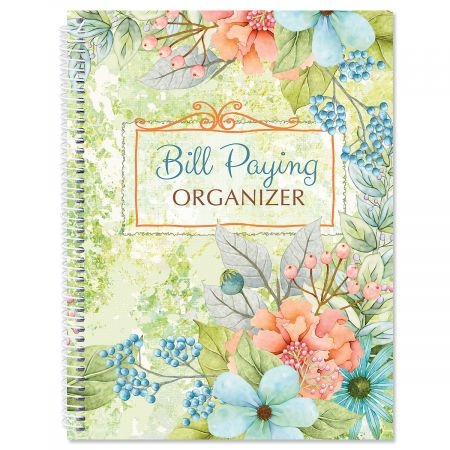 Sentiment Garden Bill Paying Organizer Colorful Images