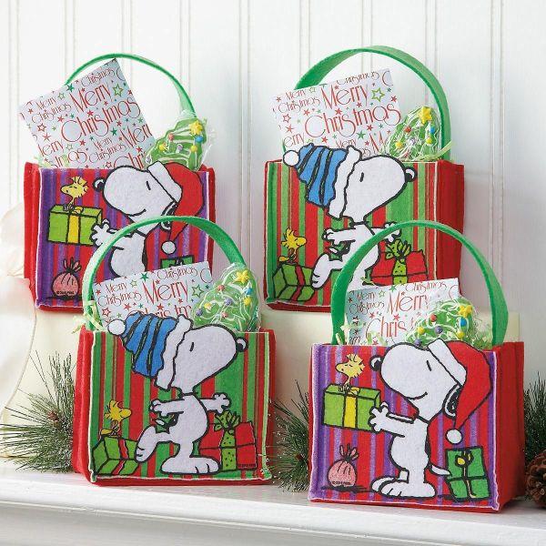 Peanuts Felt Treat Bags Colorful