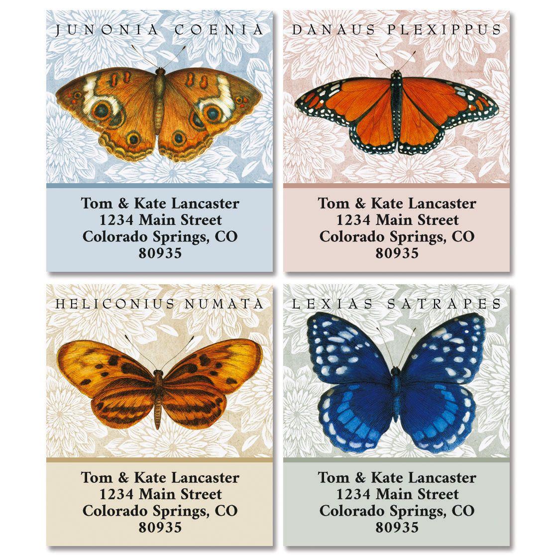 Butterfly Species Select Return Address Labels