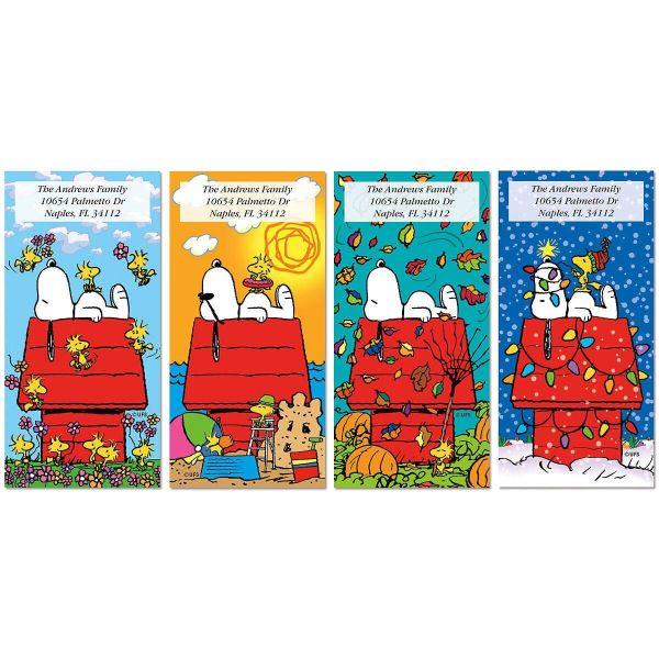 Snoopy 4 Seasons Oversized Return Address Labels