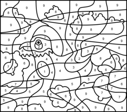 Bird Coloring Page. Printables. Apps for Kids.