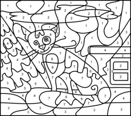 Cat Coloring Page. Printables. Apps for Kids.