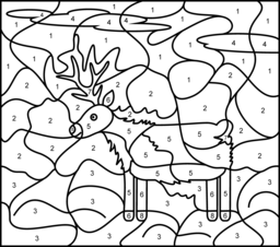 Deer Coloring Page. Printables. Apps for Kids.