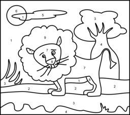 Lion Coloring Page. Printables. Apps for Kids.