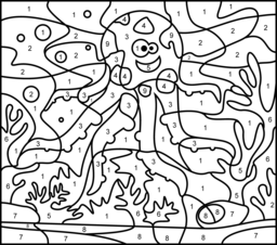 Octopus Coloring Page. Printables. Apps for Kids.