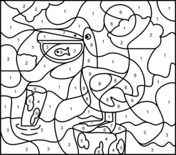 Pelican Coloring Page. Printables. Apps for Kids.