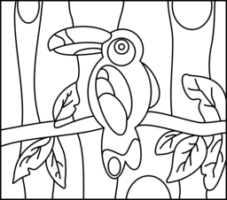 Toucan Coloring Page. Printables. Apps for Kids.