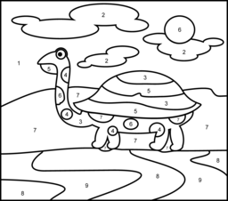 Turtle Coloring Page. Printables. Apps for Kids.