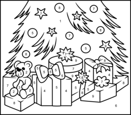 Christmas Gifts Coloring Page. Printables. Apps for Kids.