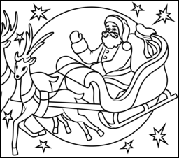 Flying Reindeer Coloring Page. Printables. Apps for Kids.
