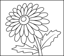 Gerbera Coloring Page. Printables. Apps for Kids.