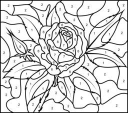 Rose Coloring Page. Printables. Apps for Kids.