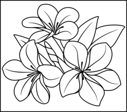 Tropical Flower Coloring Page. Printables. Apps for Kids.