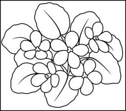Violet Coloring Page. Printables. Apps for Kids.