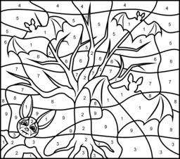 Bats Coloring Page. Printables. Apps for Kids.