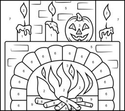 Fireplace Coloring Page. Printables. Apps for Kids.