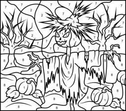 Scarecrow Coloring Page. Printables. Apps for Kids.