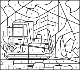 Bulldozer Coloring Page. Printables. Apps for Kids.