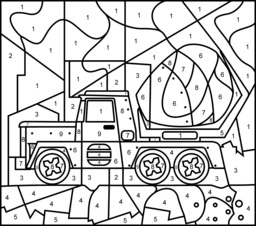 Concrete Mixer Coloring Page. Printables. Apps for Kids.
