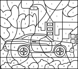 Muscle Car Coloring Page. Printables. Apps for Kids.
