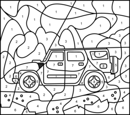 Off Road Car Coloring Page. Printables. Apps for Kids.