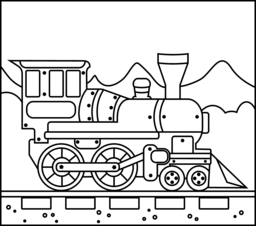 Train Coloring Page. Printables. Apps for Kids.