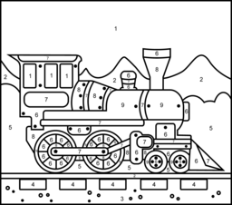 number train Colouring Pages