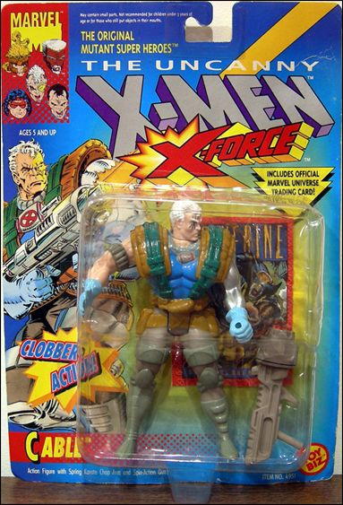 XMen Cable Jan 1992 Action Figure by Toy Biz