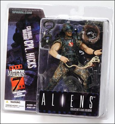 Movie Maniacs Corporal Hicks Collectors Club Exclusive Dec 2004 Action Figure by McFarlane Toys