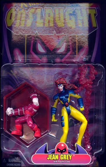 XMen Onslaught Jean Grey with Psychic Claw Jan 1996 Action Figure by Toy Biz