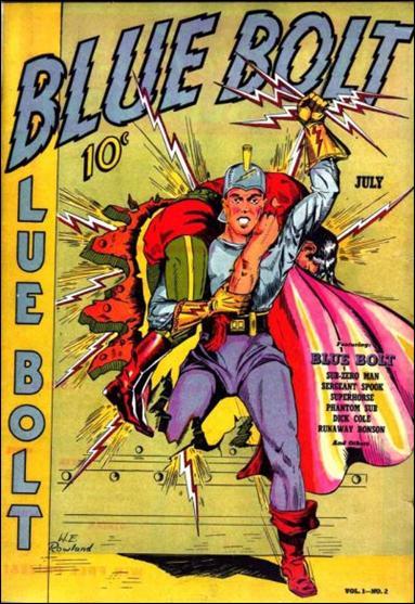 Blue Bolt 2 A Jul 1940 Comic Book By Novelty Press