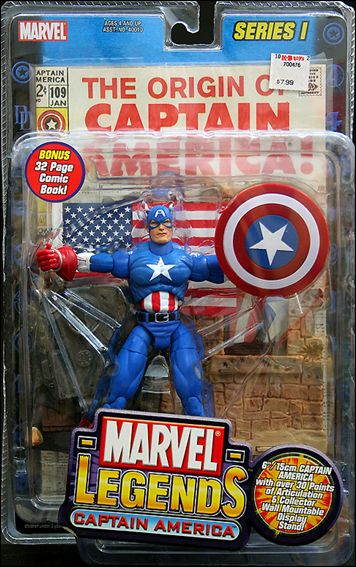 Marvel Legends Captain America May 2002 Action Figure by Toy Biz