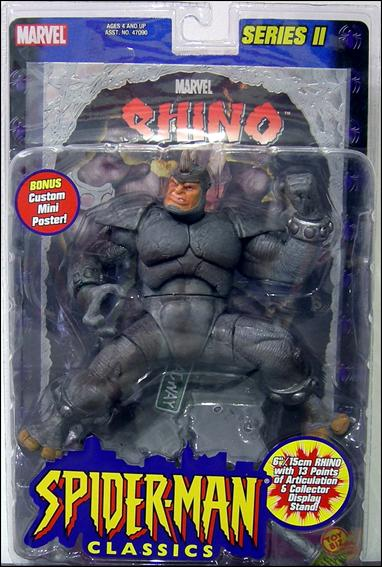 SpiderMan Classics Rhino with Foil Poster Jan 2001 Action Figure by Toy Biz