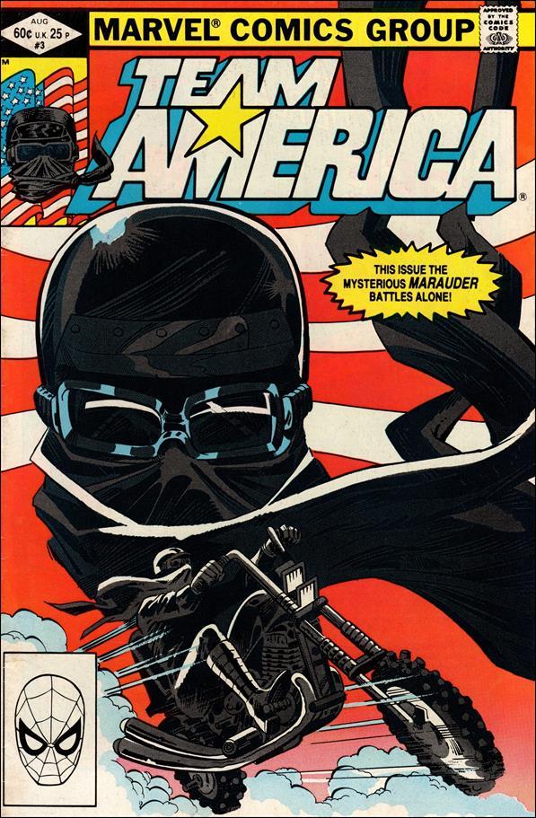 Team America 3 A Aug 1982 Comic Book by Marvel