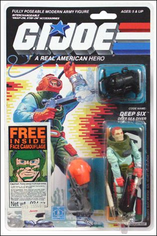 GI Joe A Real American Hero 3 Deep Six Deep Sea Diver Face Camo Jan 1989 Action