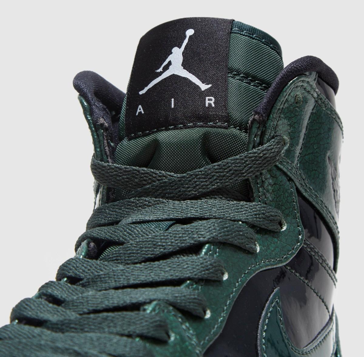 Air Jordan 1 Gorge Green Patent Leather 332550-300 Tongue