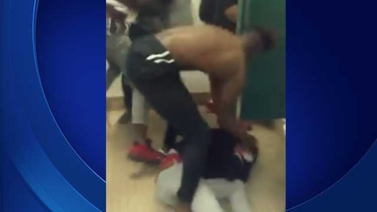 School Bathroom Fight