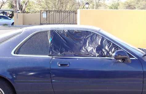 Image result for plastic bag on car window