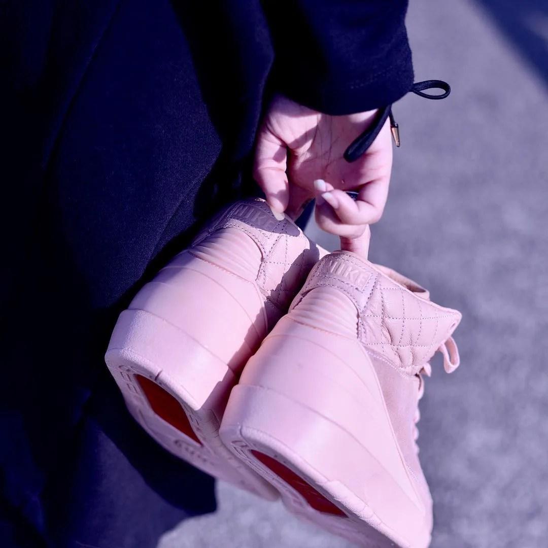 Pink Don C Air Jordan 2 Data de lançamento Heel