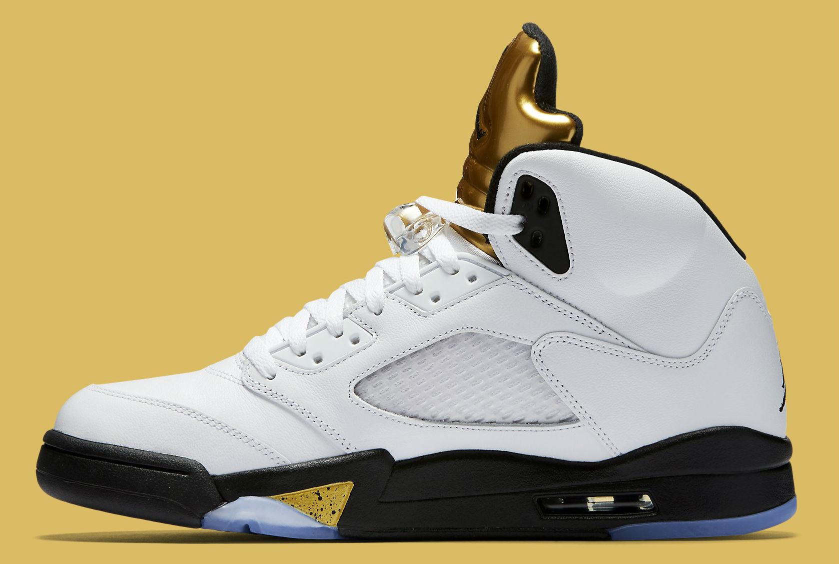 Gold Jordan 5 Release Date Medial 136027-133