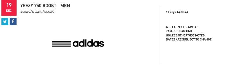 """f9dc43893c4a Foot Locker Just Confirmed the Release Date for the """"Black"""" adidas ..."""