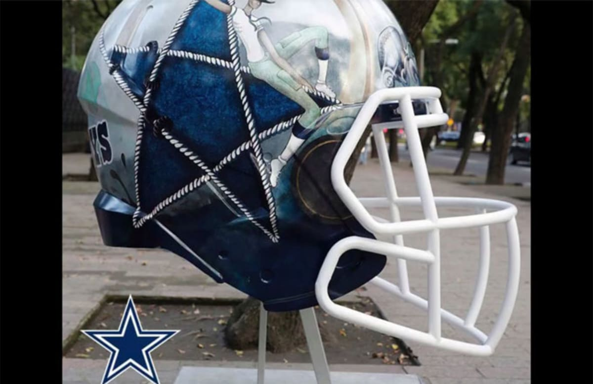 cowboys football helmet chair hammock with stand set the nfl asked mexican artists to reimagine all 32 team helmets and results are amazing